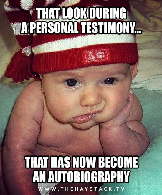 personal testimony too long