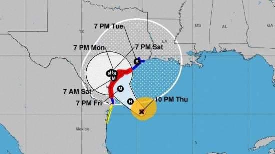 hurrican tracking chart