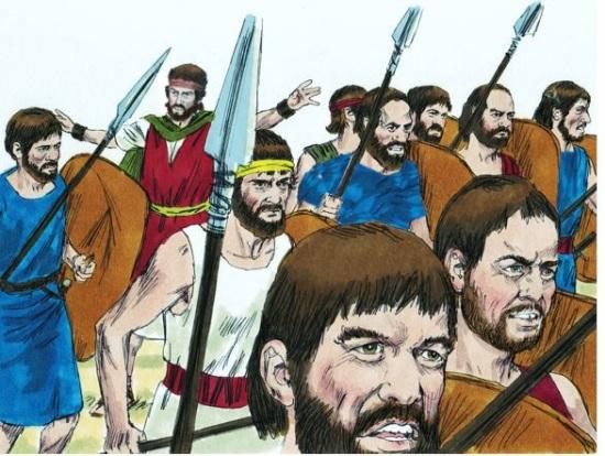 David angry at Nabal
